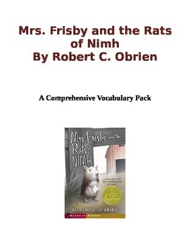 Mrs frisby and the rats of nimh quizzes teaching resources mrs frisby and the rats of nimh vocabulary pack ccss aligned fandeluxe Gallery