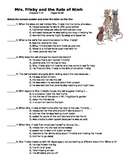 Mrs. Frisby and the Rats of Nimh - quiz on ch 7-12 (p. 45-88)