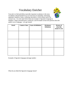 Mrs. Groen's Literature Circle Role Sheets