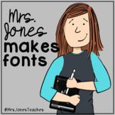 Mrs Jones Makes Fonts: Print Fonts