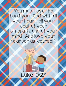 Mrs. Katz and Tush Bible Verse Printable (Luke 10:27)