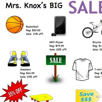 Mrs. Knox's Big Sale