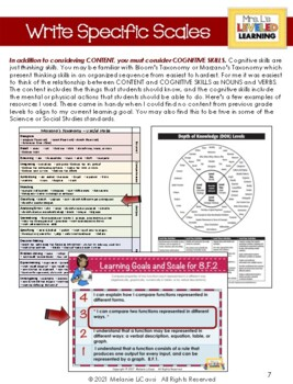 Mrs. L's Guide to Marzano Scales: Making Research Practical