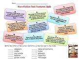 Mrs. Matthews' Non-Fiction Text Features Quiz