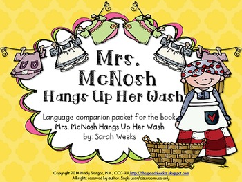 Mrs. McNosh Hangs Up Her Wash – Speech and Language Activities (Book Companion)