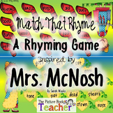 Match the Rhyme Game inspired by Mrs. McNosh