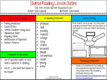 Mrs. McTats and Her Houseful of Cats-Lesson Outline & Reading Response Foldable