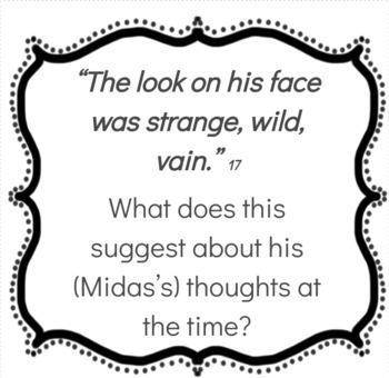 Mrs Midas Analysis Task Cards