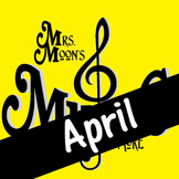 Mrs. Moon's Music: Add-a-long Songs: April Song: DELUXE PACKAGE