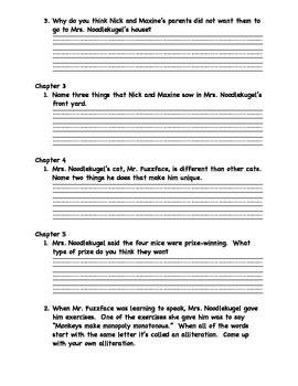 Mrs. Noodlekugel Book Study