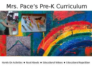 Mrs. Pace's Pre-K Lesson Plans