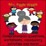 Mrs. Piggle-Wiggle Comprehension worksheets vocabulary activities