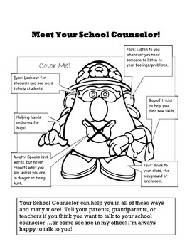 Mrs. Potato Parts Meet the Counselor Handout