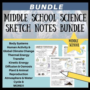 Middle School Science Sketch Note Bundle