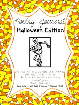 Mrs. Russell's Poetry Journal Halloween Edition