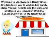 Candy Common Core Unit review 3  multiplication, graphs, d