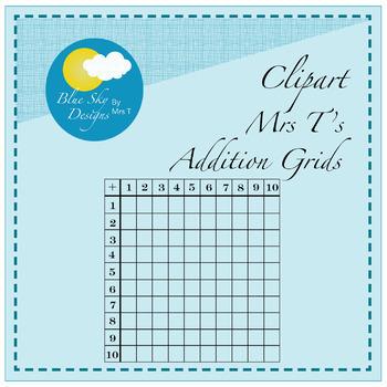 Mrs T's Addition Grids - Clip Art Set