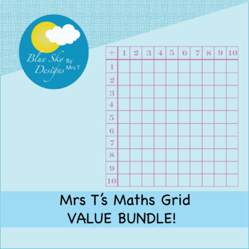 Mrs T's Multiplication and Addition Maths Grid Clip Art BUNDLE