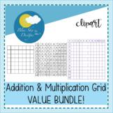 Mrs T's Multiplication and Addition Maths Grid Clip Art VALUE BUNDLE