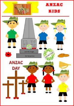 Mrs Treasure Trove ANZAC Kids Clipart
