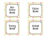 Mrs. V's Polka Dot Book Bin Labels