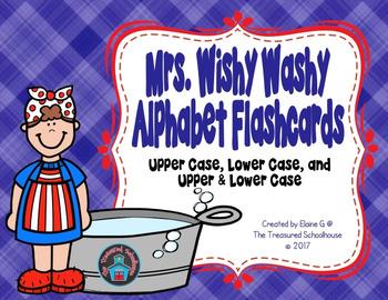 Mrs. Wishy Washy Alphabet ABC Flashcards
