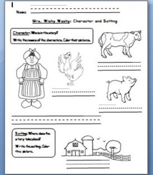 Mrs. Wishy Washy: Character and Setting