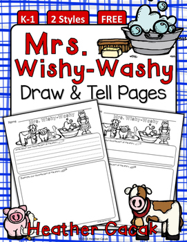 Mrs. Wishy-Washy Draw & Tell Writing & Comprehension {K-1}