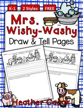 Mrs. Wishy-Washy Draw & Tell Writing & Comprehension {K-1}