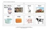 Mrs. Wishy Washy Farm Vocabulary (Tech Talk Board) and Vocabulary Cards