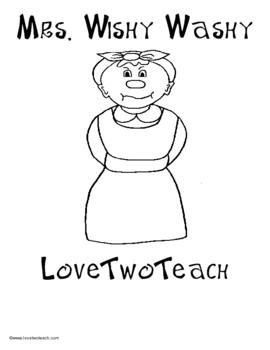 Mrs. Wishy Washy:  Literacy and Math Center Fun