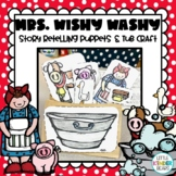 Mrs. Wishy Washy Story Retelling Stick Puppets with Tub:  Farm Theme Activity