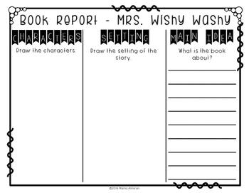 Unit Based on the Book MRS. WISHY-WASHY by Joy Cowley
