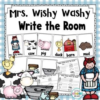 Mrs. Wishy Washy Write the Room  for Farm Theme