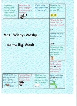 Mrs. Wishy-Washy and the Big Wash Board Game
