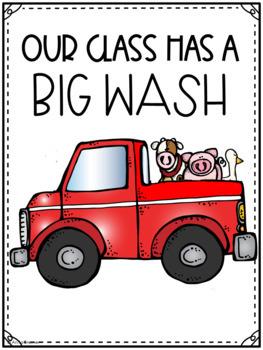 Mrs. Wishy-Washy and the Big Wash Novel Study/Book Companion