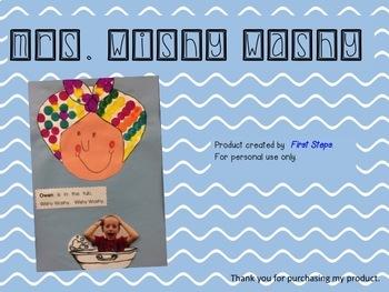 Mrs. Wishy-Washy art project & small reader.