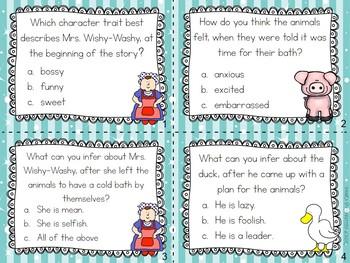 Mrs. Wishy-Washy's Christmas - Character Trait Task Cards