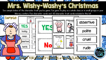 Mrs. Wishy-Washy's Christmas - Character Traits Game
