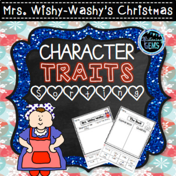 Mrs. Wishy-Washy's Christmas - Character Traits Sorting