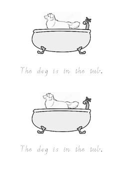 Mrs Wishy-Washy's Tub tracing - Victorian Cursive