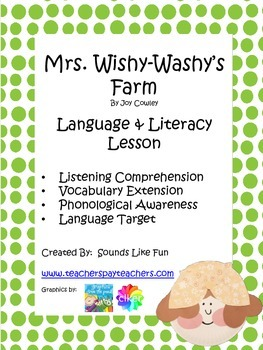 Language and Literacy Lesson: Mrs. Wishy-Washy's Farm