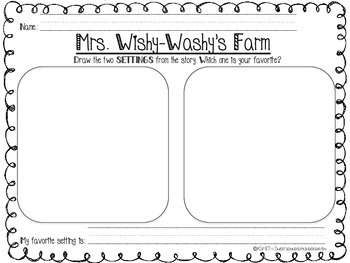 Mrs. Wishy Washy's Farm! Literacy Activities