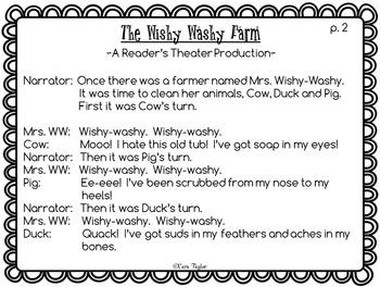 Mrs. Wishy Washy's Farm Literacy and Math Unit