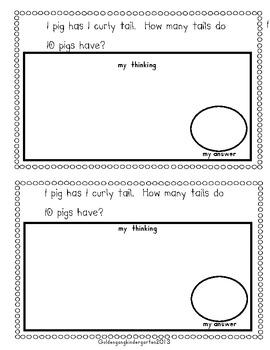 Mrs. Wishy-Washy's Math Journal and Craft