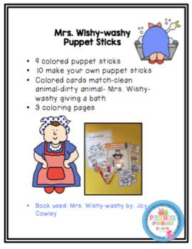 Mrs. Wishy-washy Puppet Sticks and More