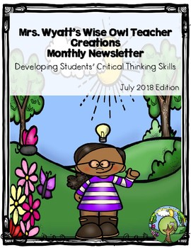 Mrs. Wyatt's Wise Owl Teacher Creations Monthly Newsletter: July 2018