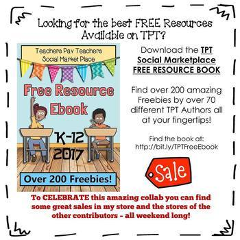 MrsTech's Freebies Page from the TPT Social Marketplace Ebook