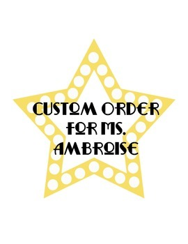 Ms. Ambroise Custom Order
