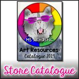 Ms Artastic: Store Catalog of Art Teacher Resources